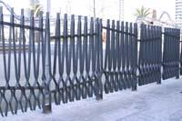 Рис.1 Металический декоративный забор